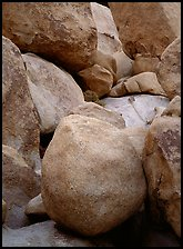 Boulders close-up, Hidden Valley. Joshua Tree National Park, California, USA.