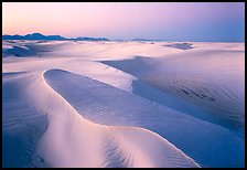 Dunes with lavender color at twilight. White Sands National Park ( color)
