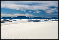 Gypsum dunes and Andres Mountains. White Sands National Park ( color)