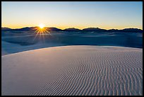 Sun setting over Andres Mountains. White Sands National Park ( color)