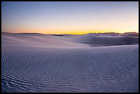 Dunes and mountains at dusk. White Sands National Park ( color)