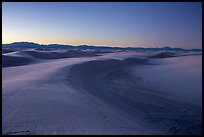 Tall dune ridge at dusk. White Sands National Park ( color)