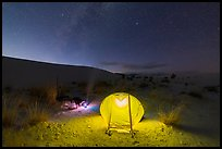 Backcountry campsite at night. White Sands National Park ( color)