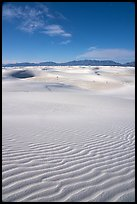 View from high dune,  Heart of the Sands. White Sands National Park ( color)