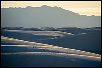 Dune ridges and Andres Mountains. White Sands National Park ( color)