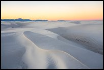 Gypsum sand dunes at sunset. White Sands National Park ( color)