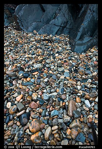 Pebbles and rock slabs. Acadia National Park (color)