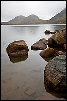 Boulders and the Bubbles, Jordan Pond. Acadia National Park, Maine, USA.