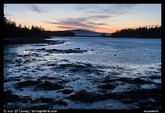 West Pond, sunset, Schoodic Peninsula. Acadia National Park (color)
