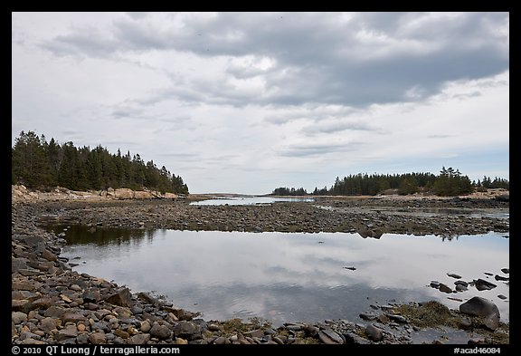 East Pond, Schoodic Peninsula. Acadia National Park (color)