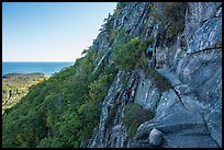 Hikers on Precipice Trail. Acadia National Park ( color)