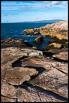 Slabs, Schoodic Point. Acadia National Park ( color)