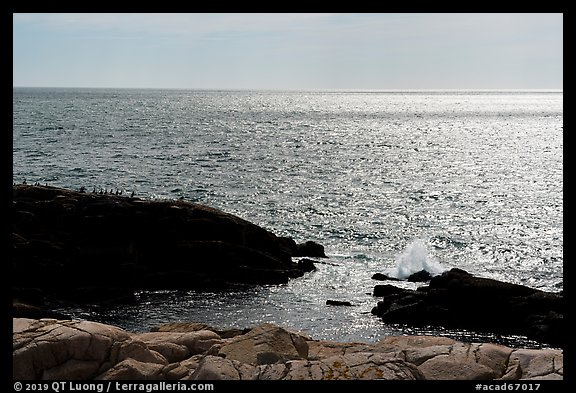 Shimmering ocean from Little Moose Island. Acadia National Park (color)