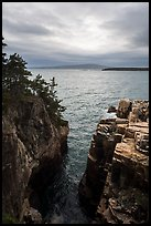 Sea cliffs of Ravens Nest and Cadillac Mountain. Acadia National Park ( color)
