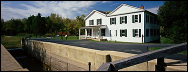 Canal and visitor center. Cuyahoga Valley National Park (Panoramic color)