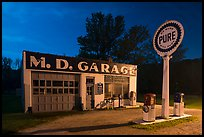 MD Garage at night. Cuyahoga Valley National Park ( color)