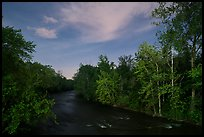 Cuyahoga River at night. Cuyahoga Valley National Park ( color)