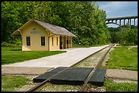 Brecksville Station and bridge. Cuyahoga Valley National Park ( color)