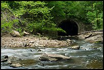 Tinkers Creek flowing into Viaduct Bridge, Bedford Reservation. Cuyahoga Valley National Park ( color)