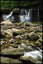 Tinkers Creek and Great Falls, low flow, Bedford Reservation. Cuyahoga Valley National Park ( color)