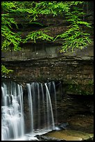 Water curtain and cliff, Great Falls, Bedford Reservation. Cuyahoga Valley National Park ( color)