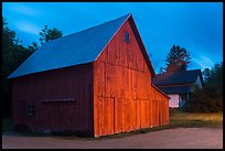 Red barn at dusk. Cuyahoga Valley National Park ( color)
