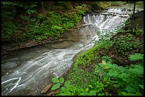 Bridal Veil Falls, Deerlick Creek, high flow, Bedford Reservation. Cuyahoga Valley National Park ( color)