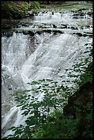 Bridal Veil Falls flowing over shale, Bedford Reservation. Cuyahoga Valley National Park ( color)