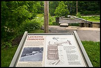 Lock interpretive sign. Cuyahoga Valley National Park ( color)