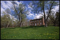 Frazee house with spring wildflowers. Cuyahoga Valley National Park ( color)