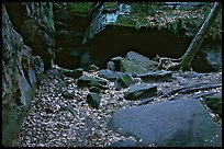 Ice box cave in a cliff, The Ledges. Cuyahoga Valley National Park ( color)