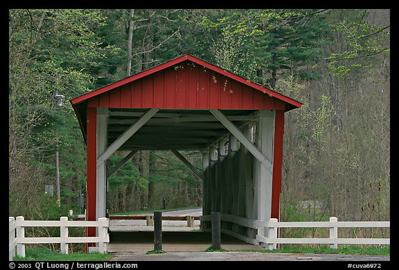 Everett Road covered bridge. Cuyahoga Valley National Park, Ohio, USA.