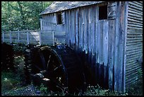Water-powered gristmill, Cades Cove, Tennessee. Great Smoky Mountains National Park ( color)