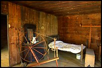 Cabin interior with rural historic furnishings, Cades Cove, Tennessee. Great Smoky Mountains National Park ( color)