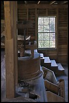 Main room of Mingus Mill, North Carolina. Great Smoky Mountains National Park ( color)