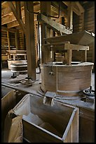 Turbine-powered grist stones inside Mingus Mill, North Carolina. Great Smoky Mountains National Park ( color)