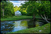 River and Caldwell House, Cataloochee, North Carolina. Great Smoky Mountains National Park ( color)