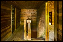 Staircase and rooms inside Caldwell House, Cataloochee, North Carolina. Great Smoky Mountains National Park ( color)