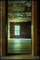 Empty room, Caldwell House, Cataloochee, North Carolina. Great Smoky Mountains National Park ( color)