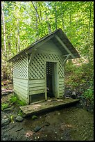 Laundry shack over stream, Caldwell House, Cataloochee, North Carolina. Great Smoky Mountains National Park ( color)