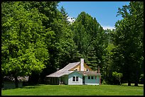 Palmer House, Little Cataloochee, North Carolina. Great Smoky Mountains National Park ( color)