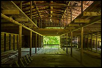 Inside Palmer Barn, Little Cataloochee, North Carolina. Great Smoky Mountains National Park ( color)