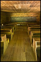 Classroom desks, Little Greenbrier School, Tennessee. Great Smoky Mountains National Park ( color)