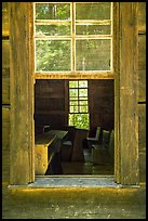 Classroom through window, Little Greenbrier School, Tennessee. Great Smoky Mountains National Park ( color)