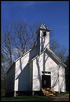 Missionary baptist church, Cades Cove, Tennessee. Great Smoky Mountains National Park ( color)