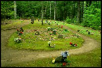 Pioneer Cemetery in forest clearing, Greenbrier, Tennessee. Great Smoky Mountains National Park ( color)