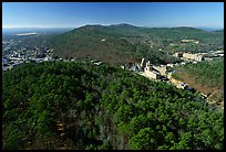 View of Hot Springs from the mountain tower in winter. Hot Springs National Park ( color)