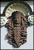 Bas relief depicting Indian chief on Quapaw Baths facade. Hot Springs National Park ( color)