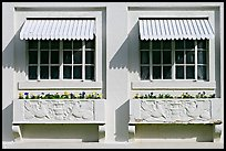 Windows and shades, Ozark Baths. Hot Springs National Park ( color)