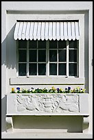 Window and shades, Ozark Baths. Hot Springs National Park ( color)